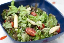 Summer Salad With Asparagus And Tomatoes Stock Image
