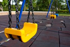 Swing In The Park Royalty Free Stock Photos