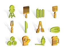 Free Picnic, Barbecue And Grill Icons Stock Photo - 14389840