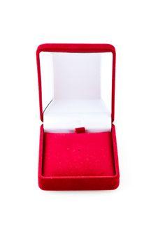 Red Velvet Box Royalty Free Stock Photo