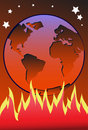 Free The Burning Earth Stock Images - 14390274