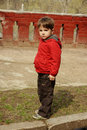 Free Serious Little Boy Royalty Free Stock Photography - 14390787