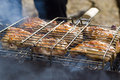 Free Meat Preparation On Fire Stock Photo - 14396100