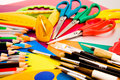 Free Pencils On Colorful Cardboard Stock Image - 14397741