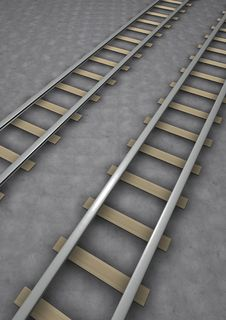 Free Rail Tracks Royalty Free Stock Photos - 14390318