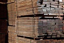 Stacks Of Hardwood Stock Images