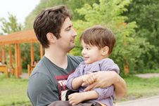 Free Father And Son Stock Photography - 14390822