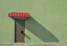 Steel Door And Wall Royalty Free Stock Images