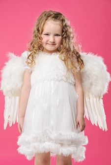 Free Beautiful Little Angel Girl Stock Photo - 14391990