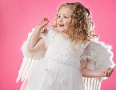 Free Beautiful Little Angel Girl Stock Image - 14392011