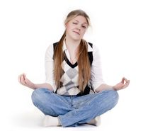 Free Blond Woman Meditating Royalty Free Stock Photography - 14392357
