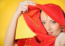 Free Young Beautiful Indian Traditional Woman Eyes Stock Photo - 14393020