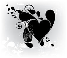 Free Grungy Heart Royalty Free Stock Photos - 14393648