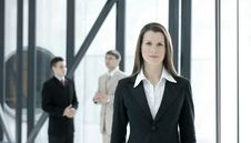 Free A Young Business Woman In Front Of Her Colleagues Royalty Free Stock Images - 14393879