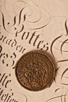 Free Old Seal Royalty Free Stock Image - 14393896