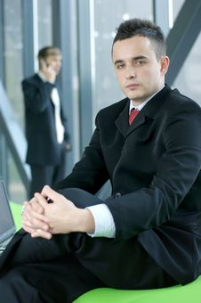 Free A Young Business Man Is Sitting In The Office Royalty Free Stock Photo - 14393915