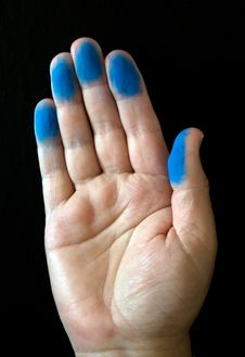 Free Blue Fingers Royalty Free Stock Images - 14394299
