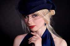 Free Woman In Hat With Veil Stock Photography - 14395782