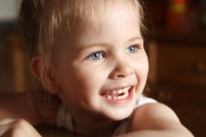 Llittle Girl Happily Smiling Stock Photos