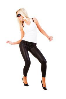 Free Young Beautiful Slim Girl In Leggings Royalty Free Stock Images - 14396249