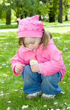 Free Little Girl In Park Royalty Free Stock Image - 14396506