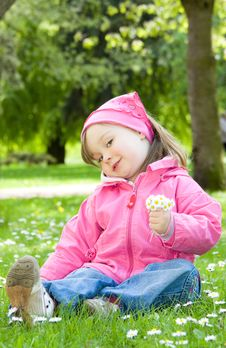 Free Little Girl In Park Stock Photos - 14396593