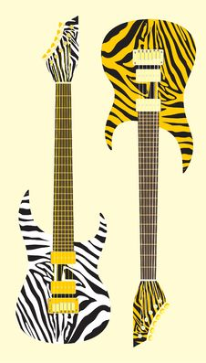 Free Vector Guitar Stock Image - 14396981