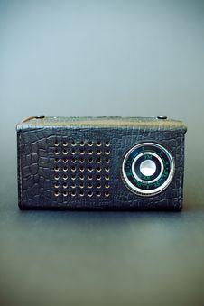 Free Vintage Radio On Gray Grunge Background Royalty Free Stock Image - 14397086
