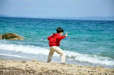 Free Boy By The Sea 2 Royalty Free Stock Image - 14397116