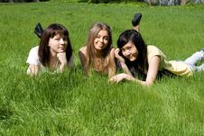 Free Three Girls Royalty Free Stock Photography - 14397737