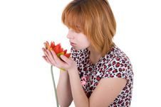 Free Girl Holding A Flower Royalty Free Stock Photo - 14398035