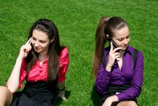 Two Young Businesswomen Royalty Free Stock Image