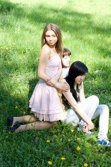 Free Three Girls Stock Images - 14398234