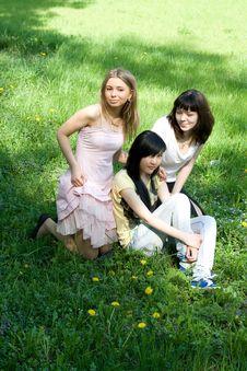 Free Three Girls Stock Photo - 14398270