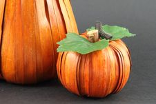 Artificial Pumpkins Stock Image