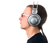 Free Young Man Listening To Music Royalty Free Stock Photos - 14398768