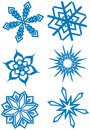 Free Simple Snowflakes Set Royalty Free Stock Images - 1445349