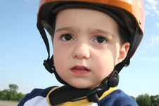 Free Toddler In Helmet Stock Image - 1440481