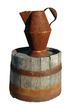 Free Rusty Pitcher And Barrel Royalty Free Stock Photos - 1440598