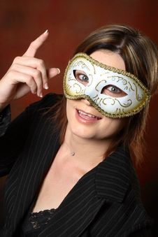 Free Model With A Mask Idea Royalty Free Stock Photography - 1441047