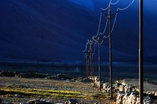 Free Rural Power Line (2/2) Royalty Free Stock Image - 1441276