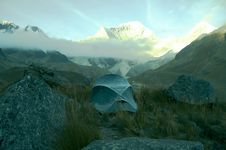 Tent In The Cordilleras Mountain Royalty Free Stock Image