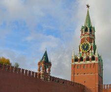 Free Kremlin Clock Royalty Free Stock Images - 1443689