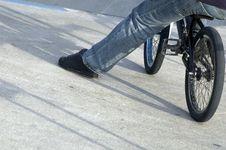 Free Close Up Of Male Leg On Bmx Stock Photography - 1443792