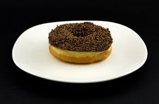 Free Doughnut On A Plate Royalty Free Stock Photos - 1445468