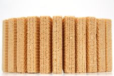 Free Wafers With A Vanilla Cream Standing A Semicircle On Zoom Royalty Free Stock Photo - 1448585