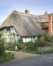 Free Thatched Village Cottage Stock Photography - 1449172