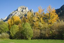 Mountain In Autumn Royalty Free Stock Photo