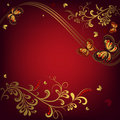 Free Decorative Red Floral Frame Royalty Free Stock Photography - 14401117