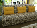 Free Beautiful Black And White Couch/Sofa Royalty Free Stock Photo - 14401815